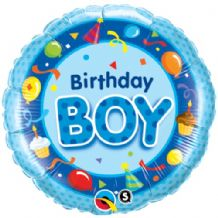 "Birthday Boy Foil Balloon (18"") 1pc"